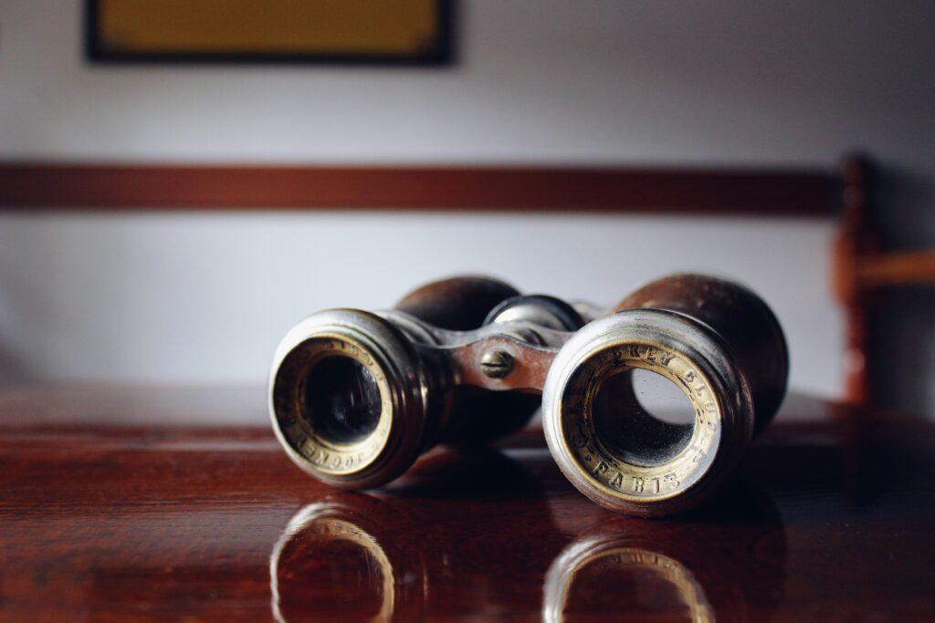 Foto eines alten Fernglases